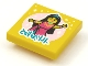 Part No: 3068bpb1626  Name: Tile 2 x 2 with Groove with BeatBit Album Cover - Minifigure in Dress and Spotlight Pattern