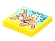 Part No: 3068bpb1771  Name: Tile 2 x 2 with Groove with BeatBit Album Cover - Squid Playing Accordion Pattern