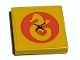 Part No: 3068bpb1913  Name: Tile 2 x 2 with Groove with Heartlake Rescue Logo in Coral Circle Pattern (Sticker) - Set 41380