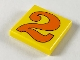 Part No: 3068pb42  Name: Tile 2 x 2 with Number  2 Orange Pattern