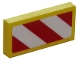Part No: 3069bpb0238R  Name: Tile 1 x 2 with Groove with Red and White Danger Stripes (Red Corners) Pattern Model Right (Sticker) - Sets 4204 / 60152