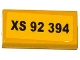 Part No: 3069bpb0336  Name: Tile 1 X 2 with Groove with 'XS 92 394' Pattern (Sticker) - Set 76015