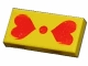 Part No: 3069bpx69  Name: Tile 1 x 2 with Groove with Scala Two Red Hearts Pattern - Set 4306