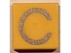 Part No: 3070bpb011  Name: Tile 1 x 1 with Groove with Letter Capital C Pattern