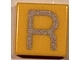 Part No: 3070bpb026  Name: Tile 1 x 1 with Groove with Letter Capital R Pattern