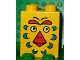 Part No: 31110pb007  Name: Duplo, Brick 2 x 2 x 2 with Bird Face Pattern