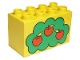 Part No: 31111pb002  Name: Duplo, Brick 2 x 4 x 2 with Apple Tree Pattern