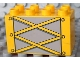 Part No: 31111pb029  Name: Duplo, Brick 2 x 4 x 2 with Yellow Girders on Light Bluish Gray Pattern