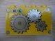 Part No: 31111pb034  Name: Duplo, Brick 2 x 4 x 2 with 3 Gears Pattern