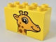 Part No: 31111pb044  Name: Duplo, Brick 2 x 4 x 2 with Giraffe Head Pattern