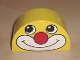 Part No: 31213pb011  Name: Duplo, Brick 2 x 4 x 2 Curved Top with Clown Face Pattern