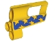 Part No: 32527pb14  Name: Technic, Panel Fairing # 5 Small Short, Large Hole, Side A with Yellow Stars on Blue Pattern (Sticker) - Set 8651