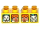 Part No: 3437pb086  Name: Duplo, Brick 2 x 2 with 2 Windows with Duplo Girl and Cat / Girl and Dog Pattern