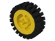 Part No: 3482c01  Name: Wheel with Split Axle Hole with Black Tire 24mm D. x 8mm Offset Tread - Interior Ridges (3482 / 3483)