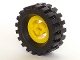 Part No: 3482c02  Name: Wheel with Split Axle Hole with Black Tire 30 x 10.5 Offset Tread (3482 / 2346)