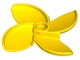Part No: 35130  Name: Duplo Propeller Rotor 4 Blade, 4 Diameter, Curved