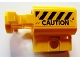 Part No: 35456pb001  Name: Projectile Launcher, Net Shooter Canister with Black and Yellow Danger Stripes and 'CAUTION' Pattern (Sticker) - Set 75926