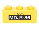Part No: 3622pb066  Name: Brick 1 x 3 with 'TRUCK 1' and 'MDJR-86' Pattern (Sticker) - Set 76051