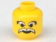 Part No: 3626bp61  Name: Minifigure, Head Moustache Ice Planet White and White Eyebrows Pattern - Blocked Open Stud