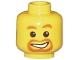 Lot ID: 206780702  Part No: 3626bpb0023  Name: Minifigure, Head Beard around Mouth, White Smile, White Pupils Pattern - Blocked Open Stud