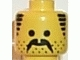 Part No: 3626bpb0054  Name: Minifigure, Head Moustache, Stubble and Sideburns Black Pattern - Blocked Open Stud