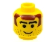 Part No: 3626bpb0103  Name: Minifigure, Head Male Brown Hair, Thick Arched Eyebrows and Stubble Pattern - Blocked Open Stud