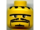 Part No: 3626bpb0162  Name: Minifigure, Head Moustache Thin, Small Goatee, Straight Unibrow Pattern - Blocked Open Stud