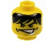 Part No: 3626bpb0230  Name: Minifigure, Head Male Partially Open Mouth, Dimples, Stubble, and Headset Pattern (Charge) - Blocked Open Stud