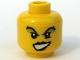 Part No: 3626bpb0311  Name: Minifigure, Head Female with Black Lips, Green Eye Shadow Pattern - Blocked Open Stud