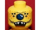 Lot ID: 166676909  Part No: 3626bpb0329  Name: Minifigure, Head Alien with Single Eye, Spots, and Jagged Teeth Pattern - Blocked Open Stud