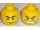 Part No: 3626bpb0445  Name: Minifigure, Head Dual Sided Male with Red Scars, Scowl / Determined Pattern - Blocked Open Stud