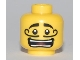 Part No: 3626bpb0461  Name: Minifigure, Head Moustache Curly Long, Open Mouth Grin, White Pupils Pattern - Blocked Open Stud