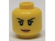 Part No: 3626bpb0513  Name: Minifigure, Head Female with Pink Lips, Eyelashes and White Pupils Pattern - Blocked Open Stud