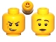Part No: 3626bpb0584  Name: Minifigure, Head Dual Sided Snarling / Raised Eyebrows Pattern - Blocked Open Stud