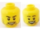 Part No: 3626bpb0593  Name: Minifigure, Head Dual Sided Beard Stubble, Smile / Open Smile Pattern - Blocked Open Stud
