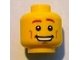 Part No: 3626bpb0687  Name: Minifigure, Head Male Brown Eyebrows, Open Mouth Smile, Chin Dimple, White Pupils Pattern - Blocked Open Stud