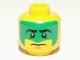 Part No: 3626bpb0689  Name: Minifigure, Head Face Paint with Green War Paint Pattern - Blocked Open Stud