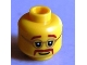 Part No: 3626bpb0691  Name: Minifigure, Head Glasses with Brown Moustache and Eyebrows Pattern - Blocked Open Stud