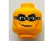 Part No: 3626bpb0742  Name: Minifigure, Head Black Eyebrows, Cheek Lines and Swim Goggles Pattern - Blocked Open Stud