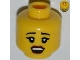 Part No: 3626bpb0832  Name: Minifigure, Head Female with Black Eyebrows, Eyelashes, Red Lips, Open Mouth Pattern - Blocked Open Stud