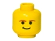 Part No: 3626bps5  Name: Minifigure, Head Male Smirk and Brown Eyebrows Pattern (SW Han Solo) - Blocked Open Stud