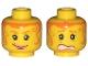 Part No: 3626bpx116  Name: Minifigure, Head Dual Sided Female Orange Hair Tendrils, Scared / Smile Pattern - Blocked Open Stud