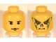 Part No: 3626bpx118  Name: Minifigure, Head Dual Sided HP Quirrell / Voldemort Pattern - Blocked Open Stud