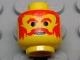 Part No: 3626bpx122  Name: Minifigure, Head Moustache Red, Eyebrows and Hair Pattern - Blocked Open Stud