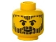 Part No: 3626bpx141  Name: Minifigure, Head Beard with Beard, Hair, and Sideburns in Vertical Line Pattern - Blocked Open Stud