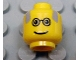 Part No: 3626bpx18  Name: Minifigure, Head Glasses with Gray Balding Hair Pattern - Blocked Open Stud
