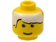 Part No: 3626bpx27  Name: Minifigure, Head Male White Bangs Pattern - Blocked Open Stud
