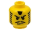 Part No: 3626bpx8  Name: Minifigure, Head Moustache Angry Eyebrows and Striped Sideburns Pattern - Blocked Open Stud