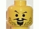 Part No: 3626bpx81  Name: Minifigure, Head Moustache Pointed, Goatee and Stubble Pattern - Blocked Open Stud