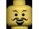 Part No: 3626bpx82  Name: Minifigure, Head Moustache Curly, Goatee and Eyebrows Pattern - Blocked Open Stud